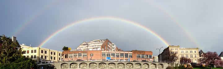 Beautiful Downtown Victoria Rainbows, Victoria Dentist.