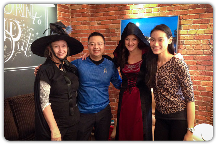 The Friday team at Broad Street Dental this Halloween.